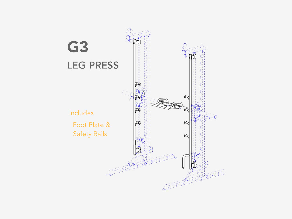 FORCE USA G3 Leg Plate and Safety Attachment