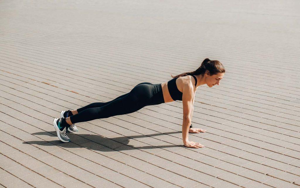 High plank woman